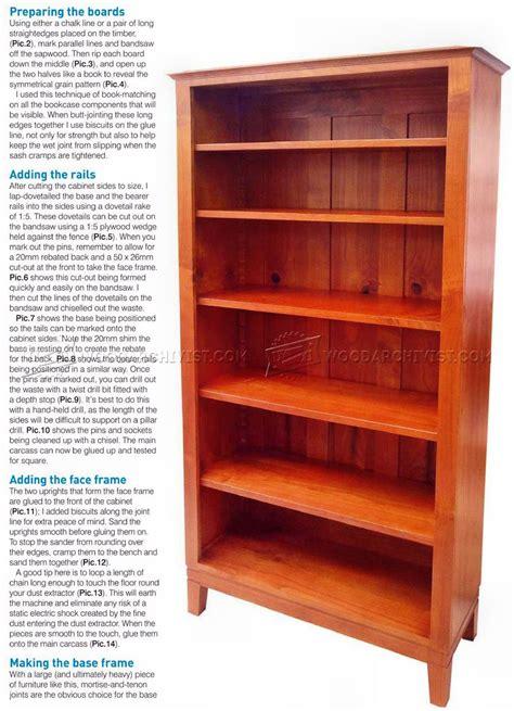 bookcase plans woodarchivist