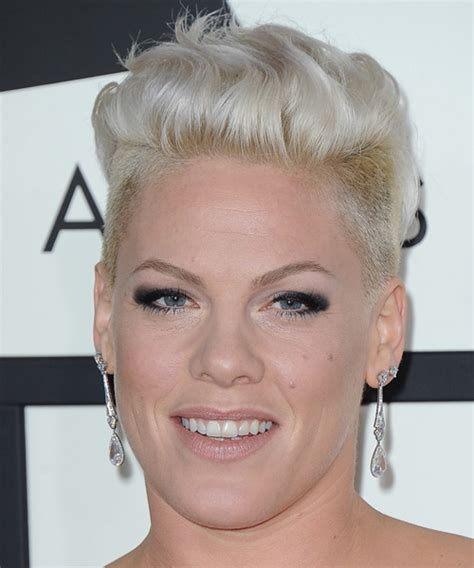 pink casual short straight undercut hairstyle light