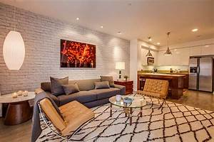 Cozy living room with plush rug and Bubble Lamp [Design
