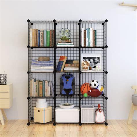 Tespo Metal Wire Storage Cubes Modular Shelving Grids