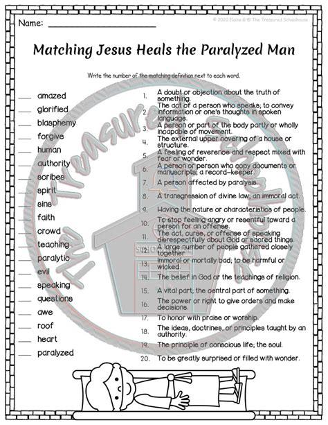 jesus heals  paralyzed man madebyteachers