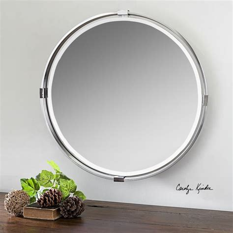 Uttermost Mirrors Free Shipping by Shop Uttermost Tazlina Brushed Nickel Mirror Free