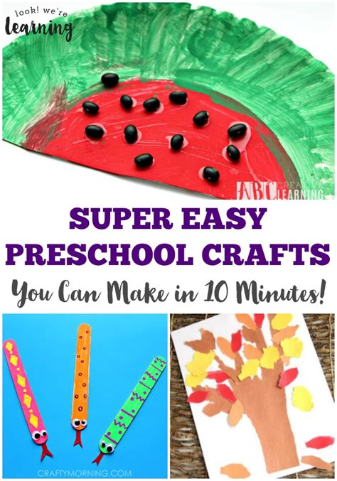 coffee filter sun craft look we re learning 726 | These super easy preschool crafts are so simple you can make them in just 10 minutes