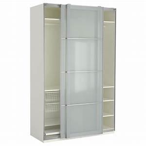 armoire penderie portes coulissantes faible profondeur With porte de douche coulissante avec armoire salle de bain faible profondeur