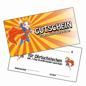 Einverständniserklärung Ohrloch Stechen : gutschein f r ohrlochstechen inhalt 10 st ck de 330239 ~ Themetempest.com Abrechnung