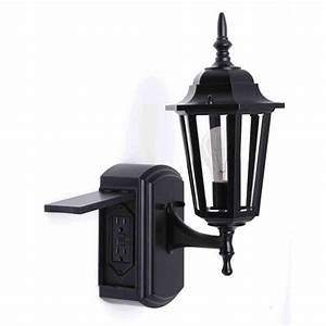 outdoor lighting astonishing porch light with outlet With outdoor christmas light plug covers