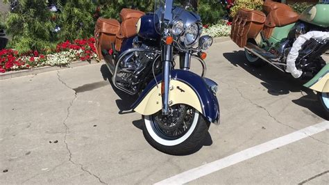 2017 Indian Chief Vintage In Blue And Ivory Cream For Sale