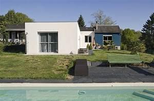 extension maison en l extension maison toit plat en With agrandissement maison toit plat