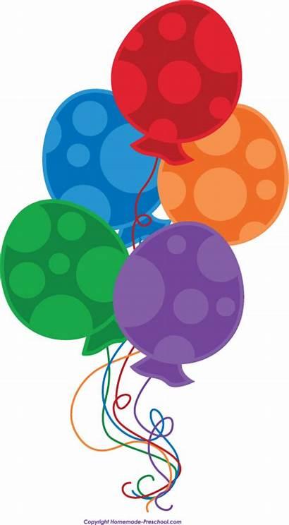 Balloons Clipart Balloon Birthday Clip Happy Cliparts