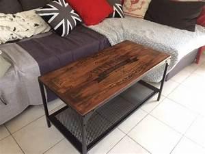 Table Industrielle Ikea : customisation table basse fjallbo industriel vintage ~ Teatrodelosmanantiales.com Idées de Décoration