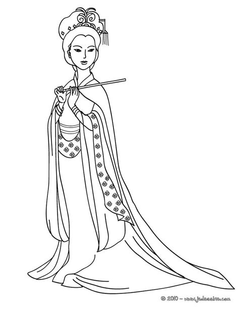 chinese coloring pages  adults coloriage princesse