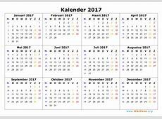 Kalender 2017 WikiDatesorg
