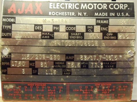 photo index ajax electric motor corp    drip