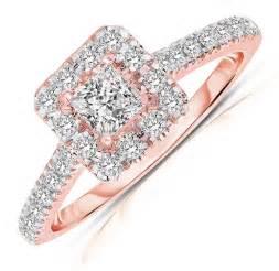 gold halo engagement ring half carat princess cut halo engagement ring in gold jeenjewels
