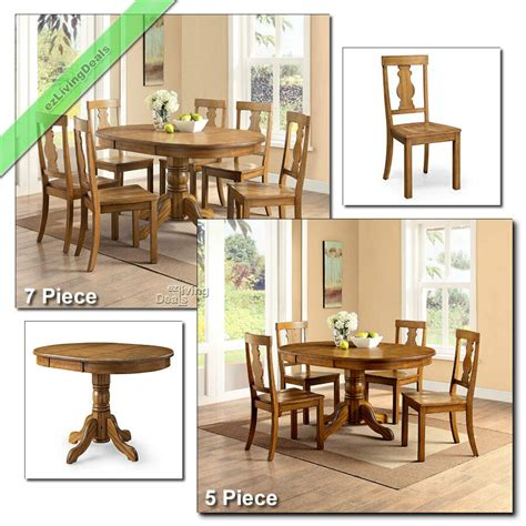 country dining room sets farmhouse table chairs wood 5 pc