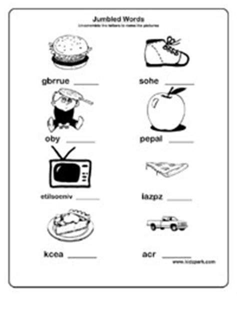 jumbled words worksheets activity sheets  kids