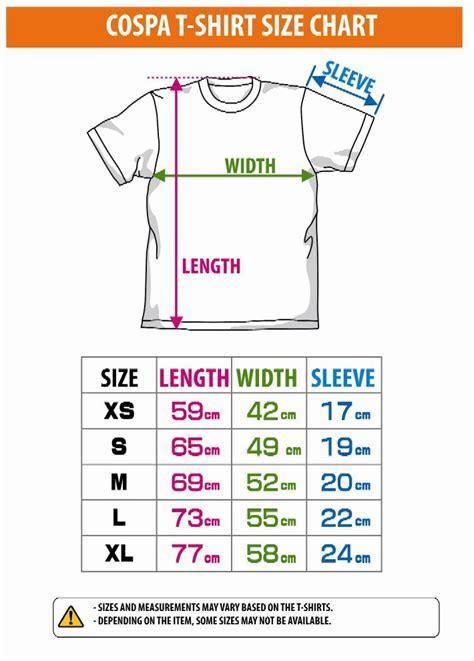 shirt size chart  sri lanka