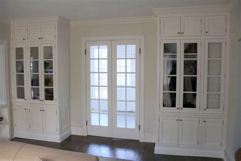 hand  double french doors  matching built ins