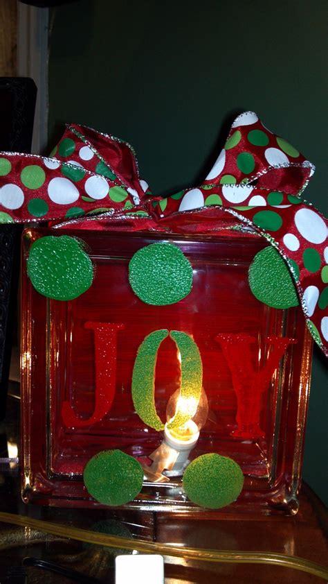 glass block christmas decoration christmas pinterest