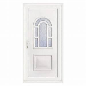 Porte D Entrée Blanche : porte d 39 entr e pvc lilou poussant droit 215 x 90 cm ~ Melissatoandfro.com Idées de Décoration