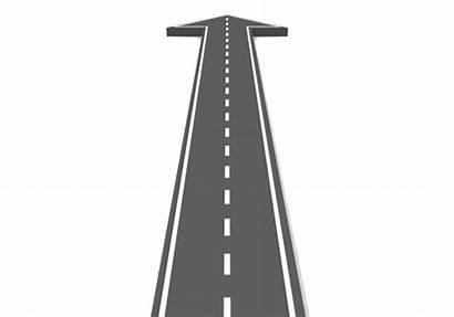 Straight Road Clipart Path Clip Arrow Icon
