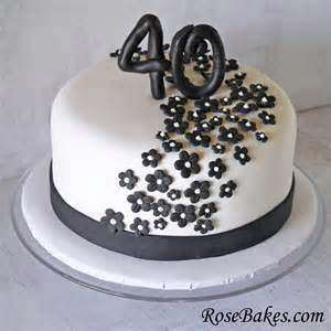 50 and fabulous cake topper black white 40th birthday cake