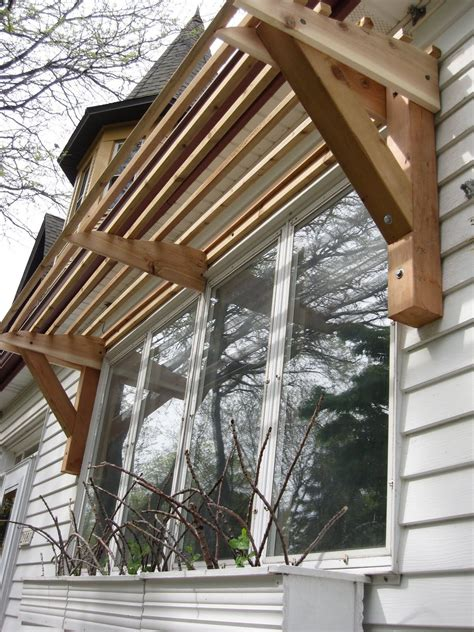 horizontal slat awning  wood diy awning pergola