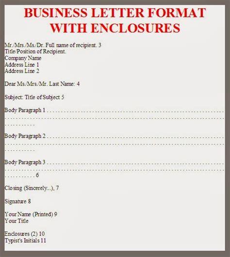 business letter enclosure business letter format enclosures exle sle