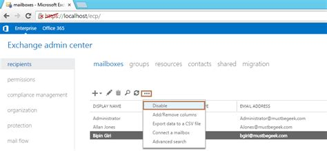 post mail boxes delete mailbox without deleting user account in exchange 2013