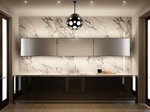 Marble kitchen wall interior design ideas