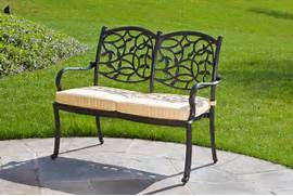 Outdoor Patio Furniture With Bench Seating by Patios Decor With Metal Garden Furniture Sets MOTIQ Online Home Decoratin