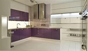 Küche U Form Mit Theke : u k che mit theke violett mit wei kombiniert ~ Michelbontemps.com Haus und Dekorationen
