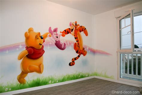 chambre bébé tigrou décor mural de salle de jeux sur le thème de winnie l 39 ourson