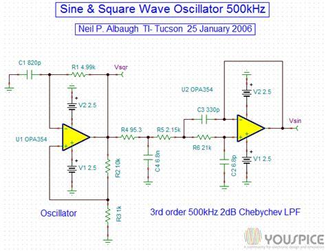 Khz Sine Square Wave Oscillator Youspice