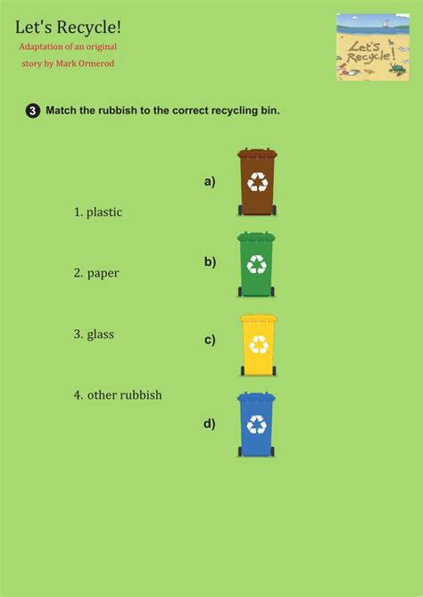 lets recycle worksheet