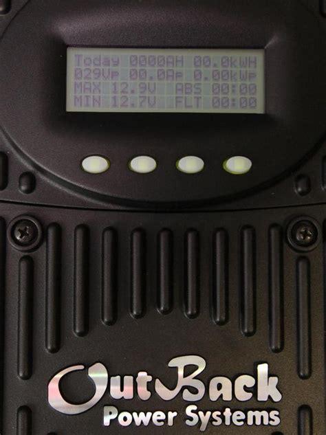 Контроллер заряда outbackmppt60