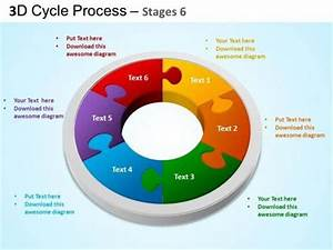 Flow Chart Template For Powerpoint 2010 Design Editable Cycle Process Flow 6 Stages Slide