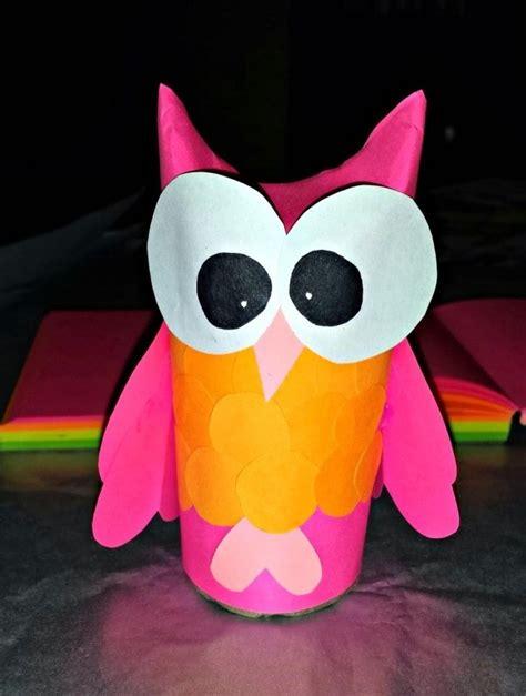 bricolage simple et rapide bricolage pour enfants hiboux en rouleaux de papier vides
