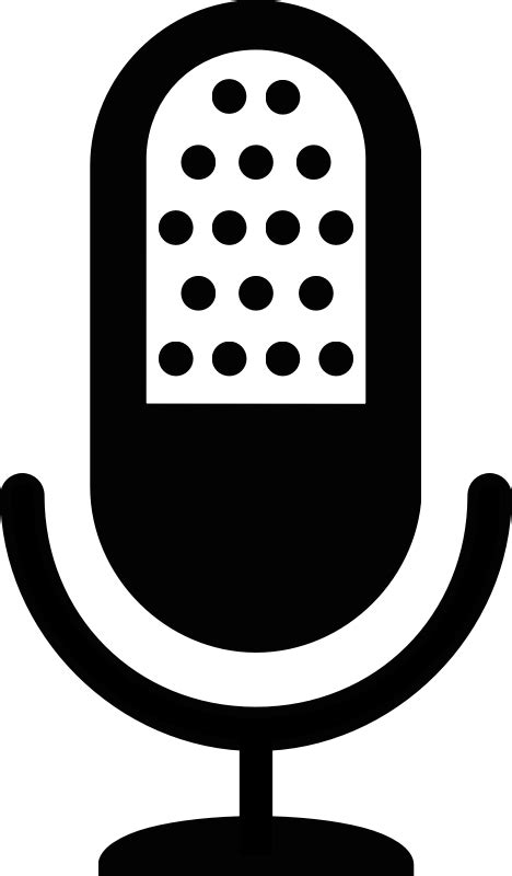 Mic icon by Upacesky - a standard icon of an old microphone