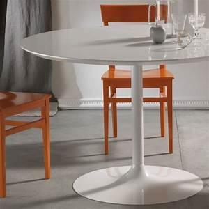 Runder Tisch Weiß : runder tisch aus laminat hpl wei und metall oviedo ~ Whattoseeinmadrid.com Haus und Dekorationen