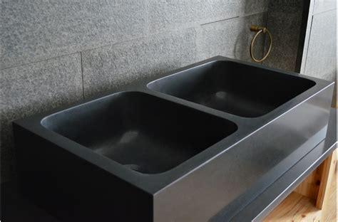 evier cuisine sous plan alifa shadow évier de cuisine sous plan en granit noir