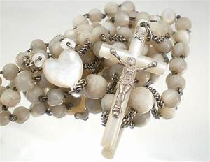 Antique Mother Of Pearl Rosary From France
