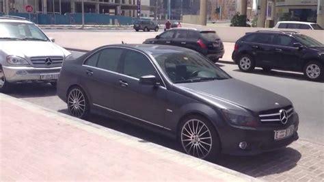Matte Black Mercedes-benz C300