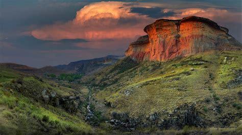 Glowing Mountain Art Nature Desktop Wallpaper Hd 2560x1440 ...