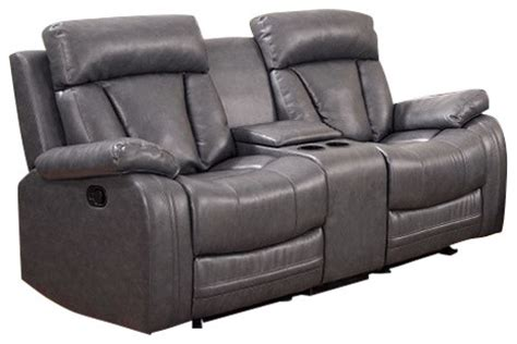 gray bonded leather motion sofa seat recliners and
