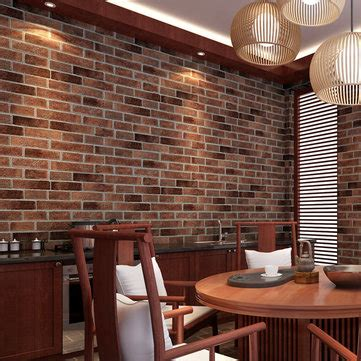 roll natural embossed creative brick wall wallpaper