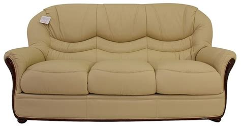 3 Seater Settees by Florence Genuine Italian Leather 3 Seater Sofa Settee