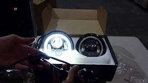 Genssi 7 Inch Round Led Headlight With Halo Angle Eyes