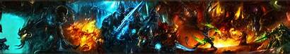 Screen Monitor Dual Wallpapers Warcraft Triple Backgrounds