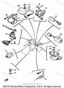Yamaha Motorcycle 1977 Oem Parts Diagram For Electrical 2